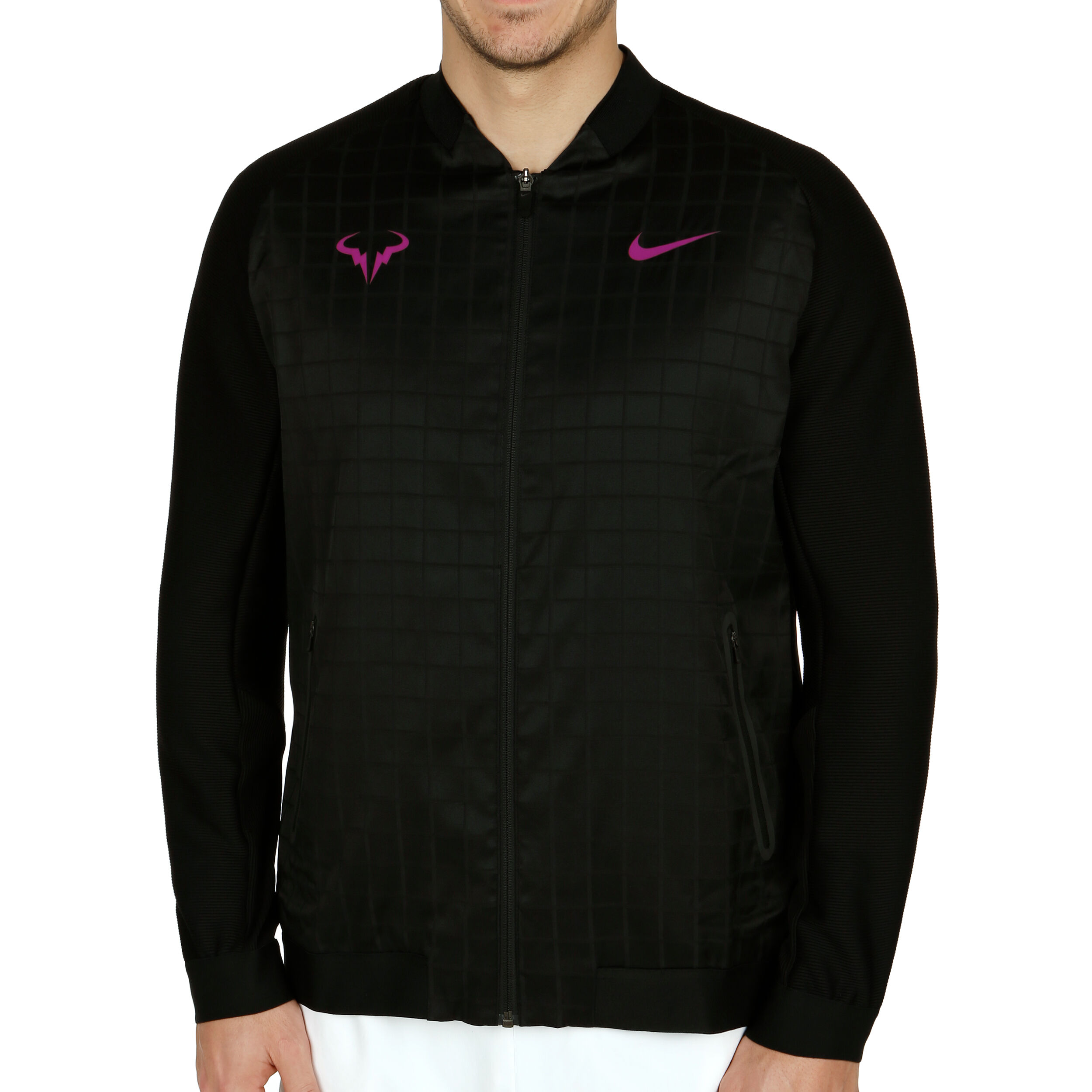 Rafael Nadal Trainingsjacke Herren Lila, Schwarz
