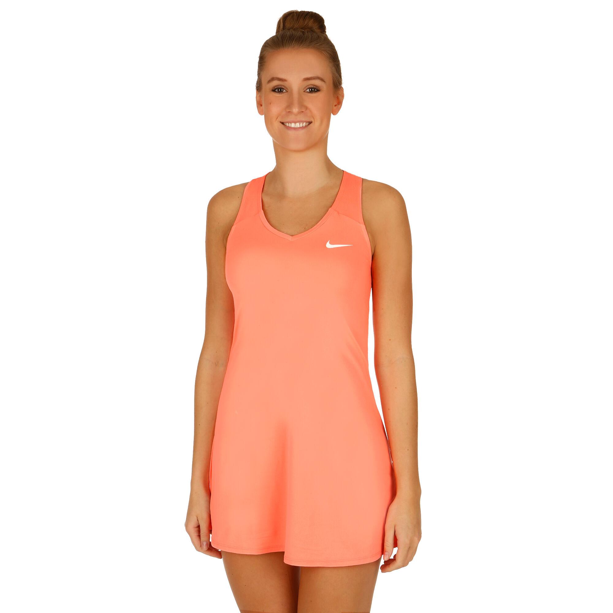 Nike Court Kleid Damen - Koralle, Weiß online kaufen ...