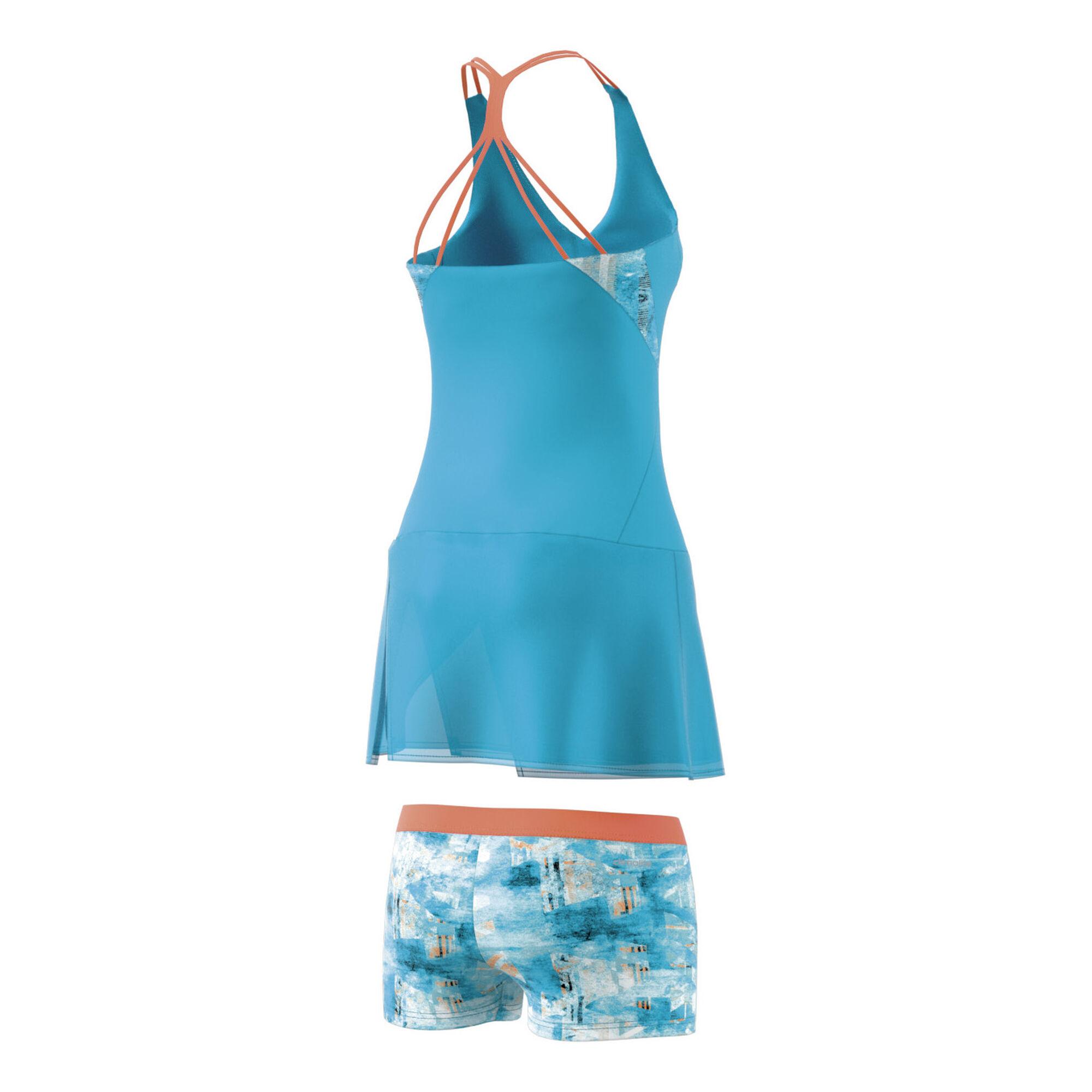 adidas Melbourne Line Kleid Damen - Hellblau, Blau online ...