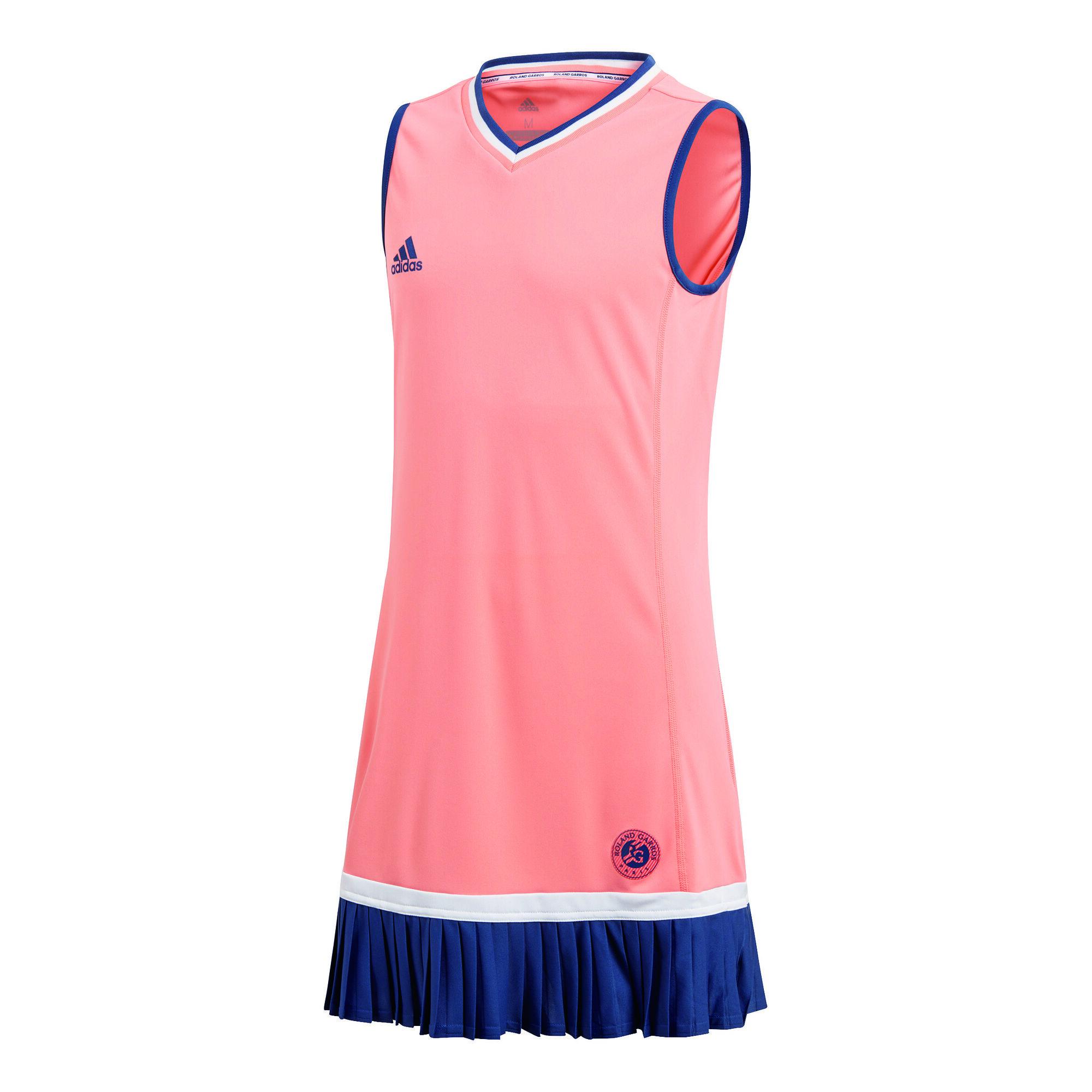 adidas Roland Garros Kleid Mädchen - Koralle, Dunkelblau ...