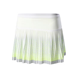 Long Black Ombre Pleated Skirt