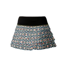 Diamond Grid Pleated Skirt